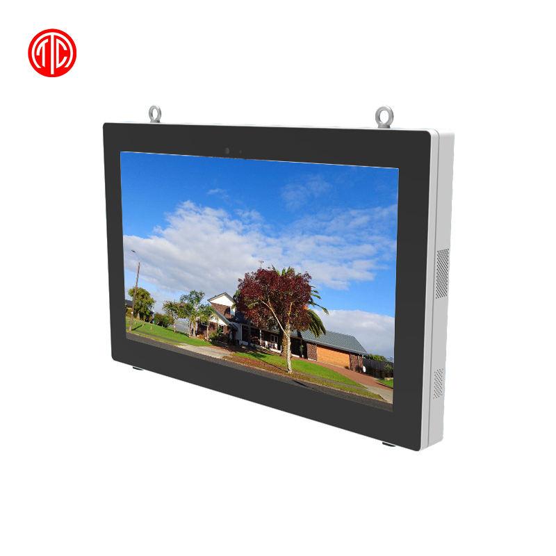 Outdoor Montaggio a Parete 55 Pollici Lettore Multimediale a Cristalli Liquidi di Pubblicità Digital Signage Impermeabile Stazione di Gas Monitor