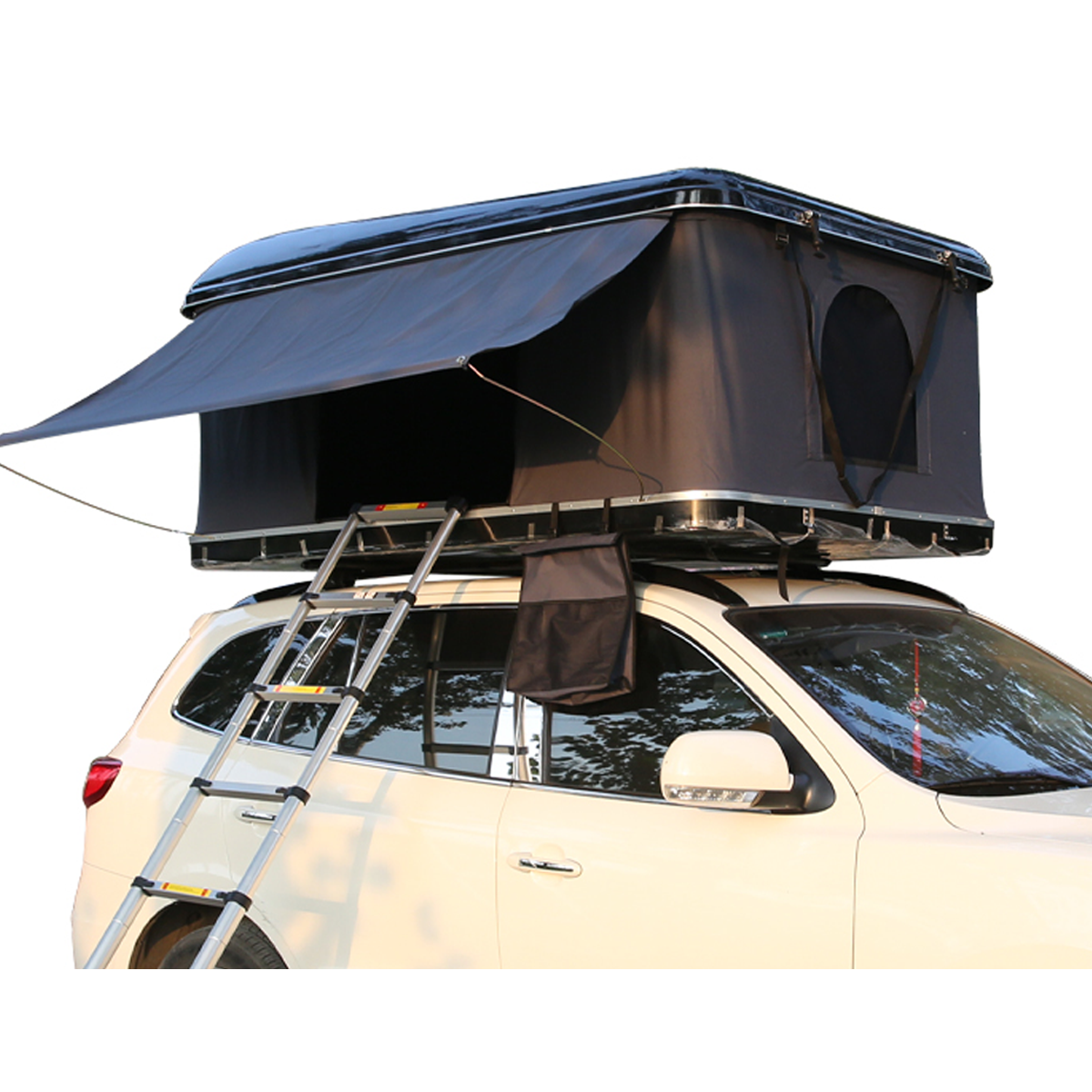 High quality fiberglass hard shell 4*4 car roof top tent with roof rack