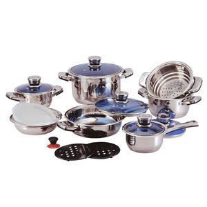 China Supply Big Sizes Kitchen Cookware Stainless Steel Non Stick Soup Pot Set