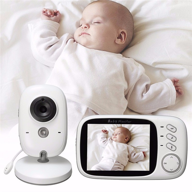 Smart Auto VOX 3.2 ''LCD Display Nirkabel Video Baby Monitor VB603 dengan Kamera Digital
