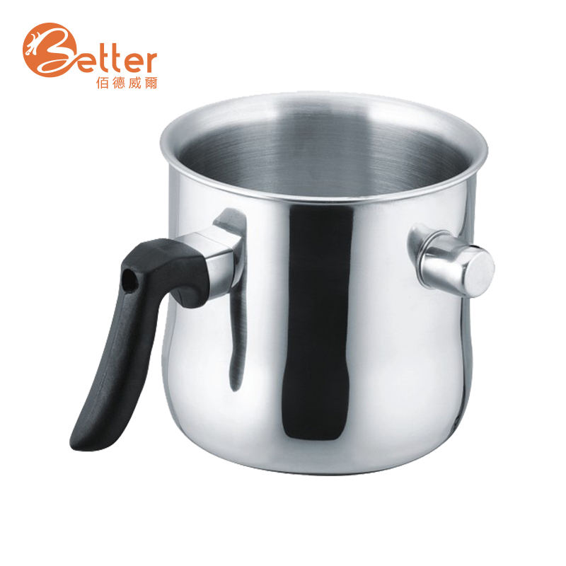 1.5L Stainless Steel Double Wall Milk Pot With Whistling