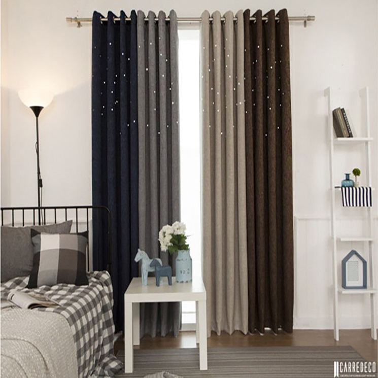 New Arrival Traditional Fancy Frill Sewing Polyester Blackout Curtain and Drapery Designs