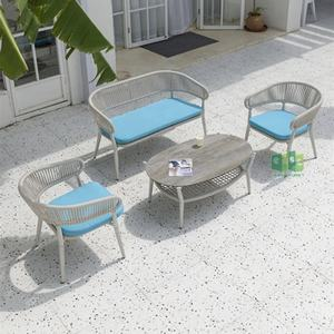 2021NEW Outdoor Set Rattan Aluminum Patio outdoor rattan Sofa Garden Furniture With High Quality