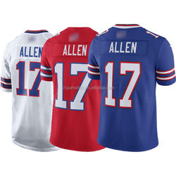 Josh Allen 17 American Football Club Teams Uniform Jersey 3D