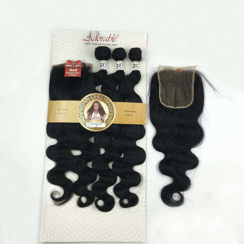 New style dropshipping mixed human hair extension,body wave packed blend human hair mixed animal mixed synthetic hair factory 22