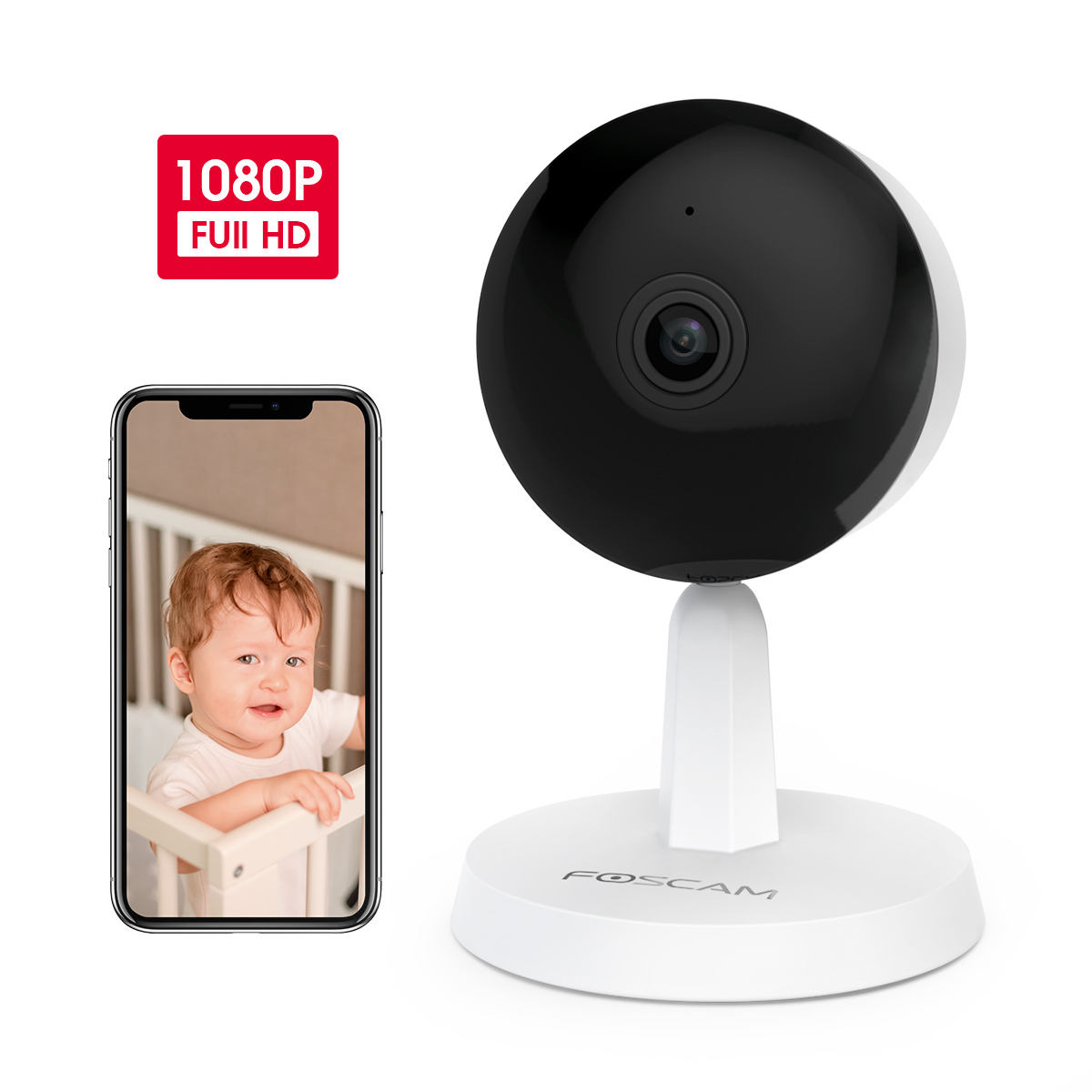 Baby Viewing Wi Fi Ip 1080P Wireless Camera With Color Monitor