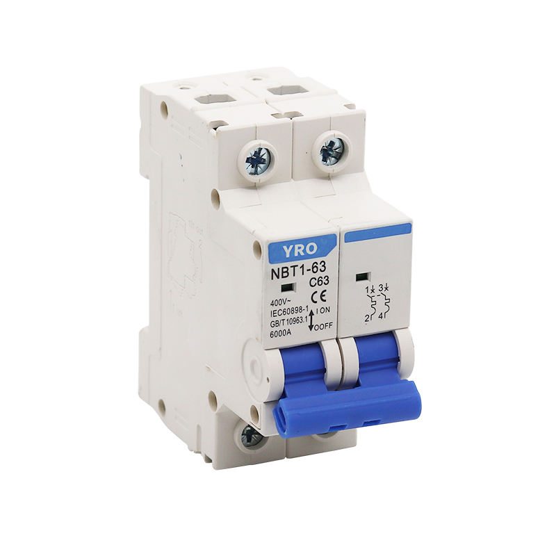 din rail 2 phase double pole circuit breaker