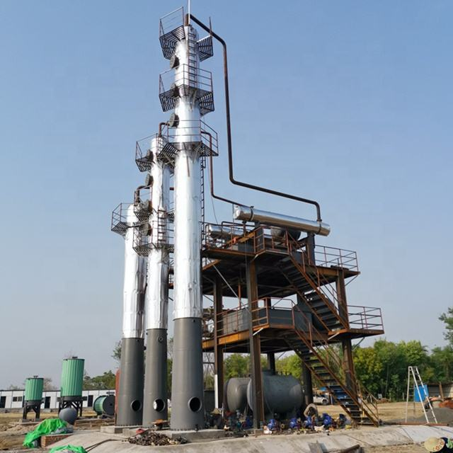 50Tons new built continuous heavy crude refinery with 65% diesel and 20% gasoline