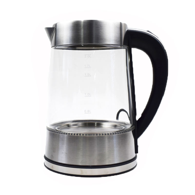 water clear tea maker topwit home kitchen LED light electric glass kettle