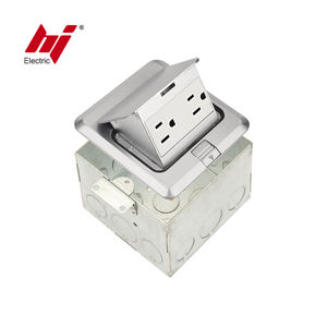 China Supplier American Style Power Pop-up Floor Socket Outlet with USA Receptacle