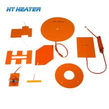 12v 24v 110v 220v 380v Electric Flexible 3m adhesive Silicone Rubber heater Heating Pad