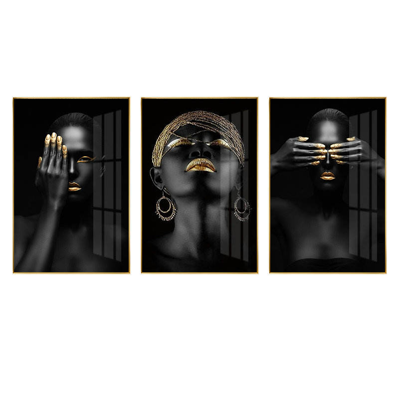 Home Goods African Woman Painting On Canvas Abstract Artwork Painting