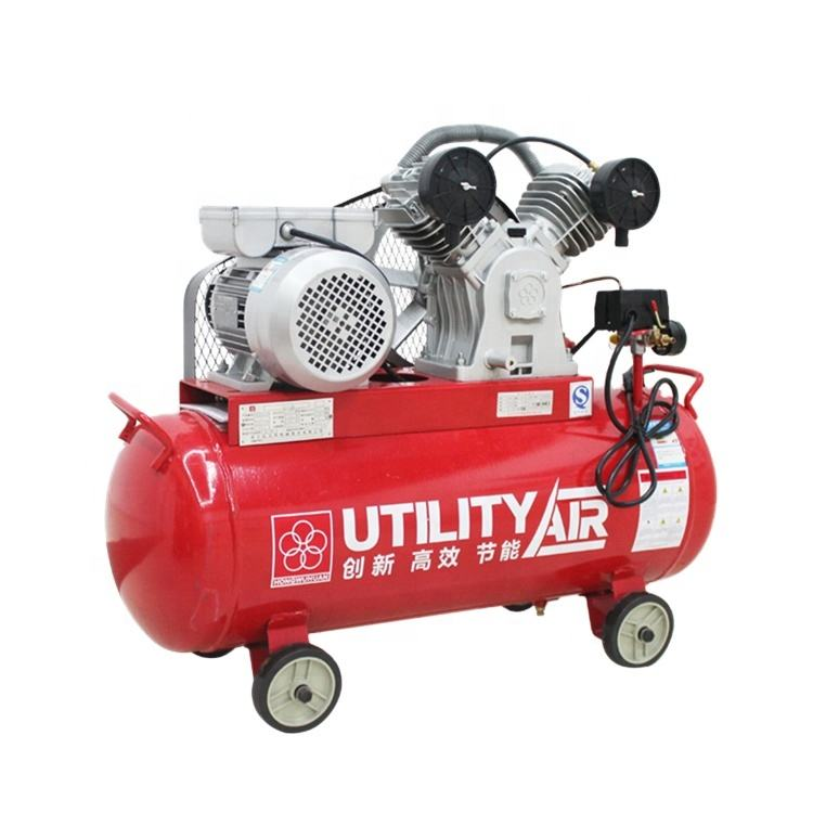 Food Beverage Factory [ 3hp Compressor ] APCOM Single Phase 3 Hp 3hp Piston Air Compressor Belt Drive 2.2 Kw 2.2kw Air Compressor