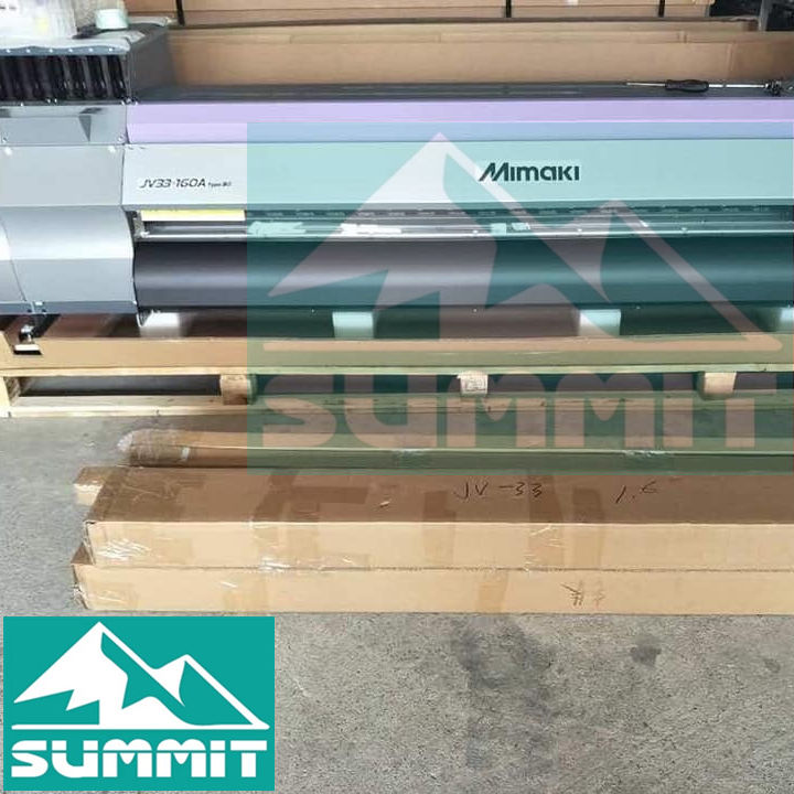 80% New Mimaki JV33-160 Large Format Eco Solvent Printer Using SS21/ BS4/ BS3 Ink
