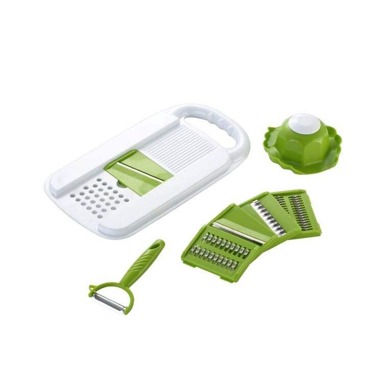 Best Selling plastic 5 in 1 kitchen vegetable grater with fruit peeler