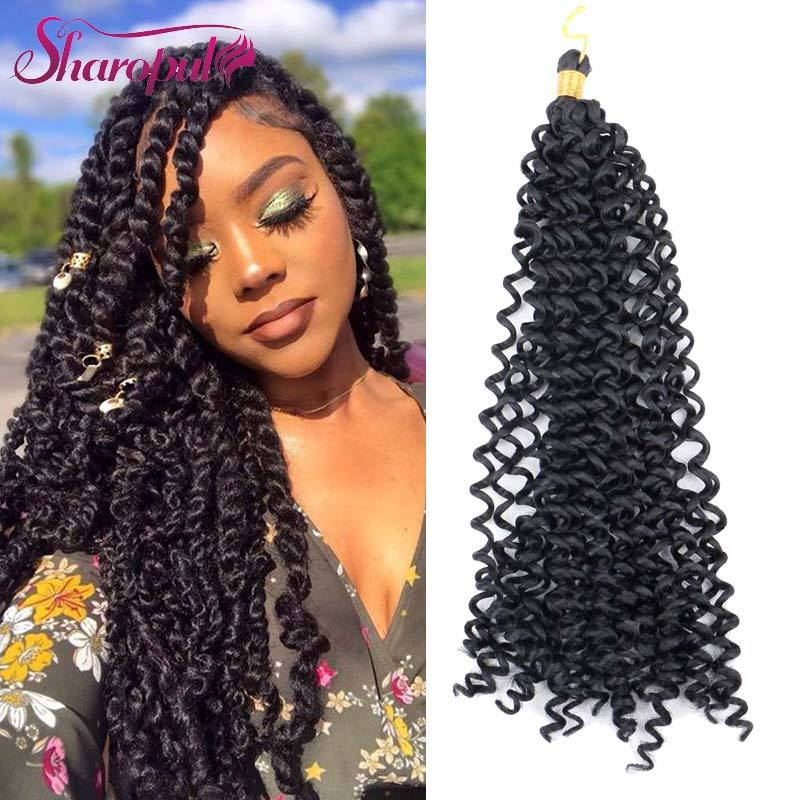 wholesale Bohemia synthetic deep curly spring twist freetress water wave crochet braid hair hair extension