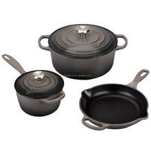 Wholesale export thickened cast mini iron enamel cookwaresets without coating non - stick iron pot