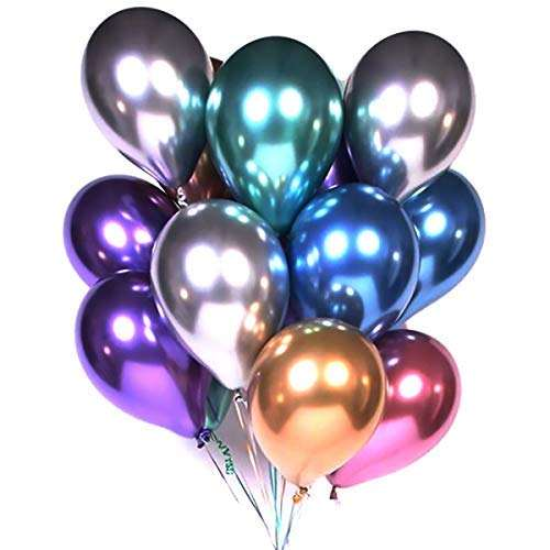 12 inch Glossy Metal Pearl Latex Balloons Thick Chrome Metallic Colors helium Air Balls Globos