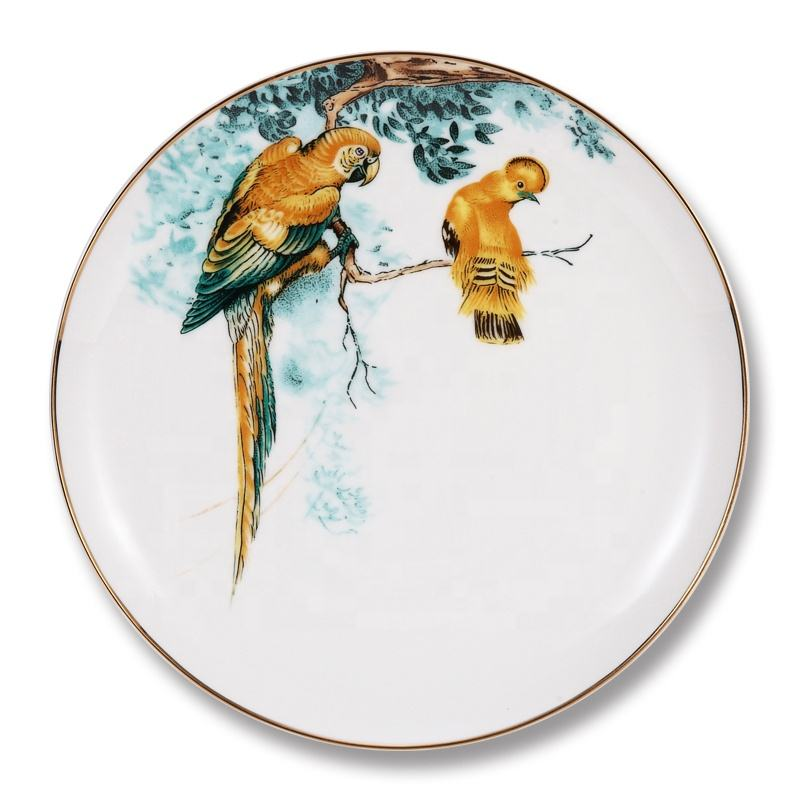 High quality hand painted porcelain plates restaurant ceramic charger plates wholesale plate ceramic