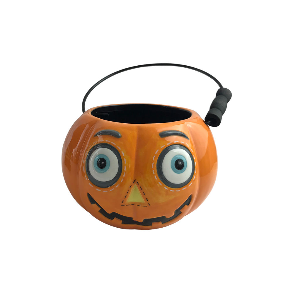 small 3d halloween party supplies contacts item decoration ceramic candy ice pumpkin buckets pails giveaways