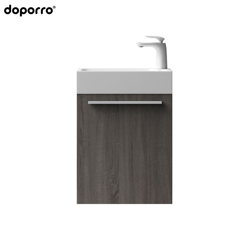 2020 Latest Product Top Quality Simply Equipped Bathroom Cabinet Directly Sale Mirror Cabinet+side Cabinet Solid Wood Wall Hung