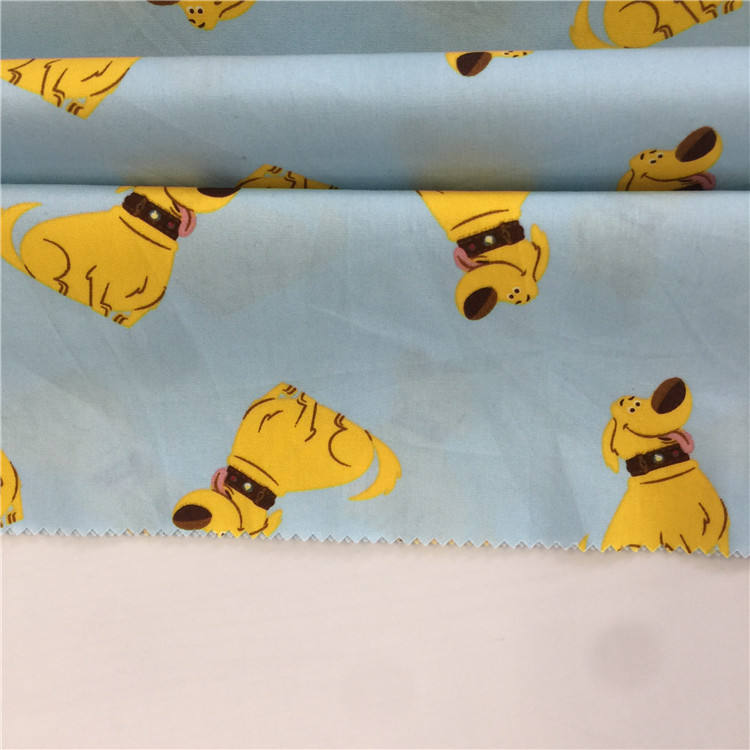 high quality soft touch custom print 100%cotton animal printed fabric for kids