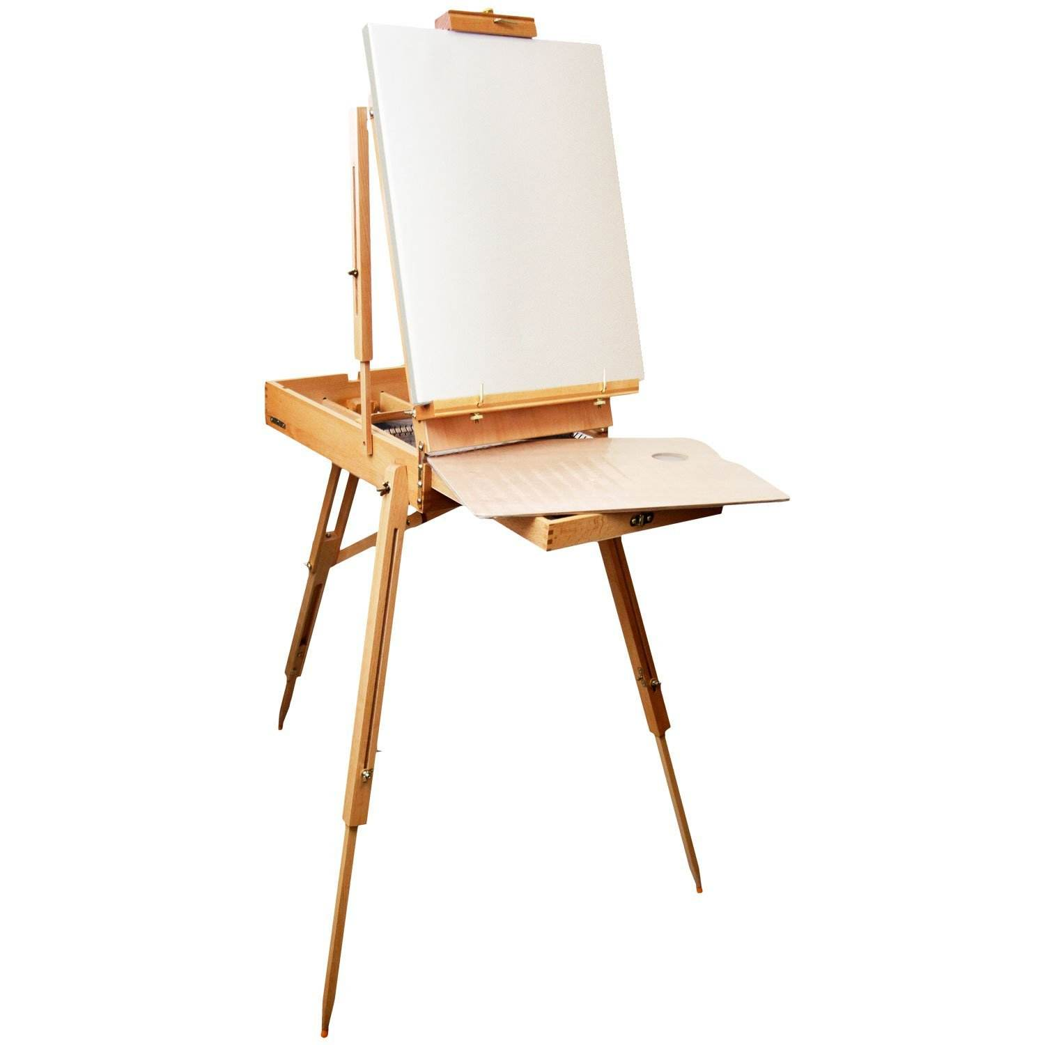 Ajustable Pine Wood Table Easel in Studio for painting