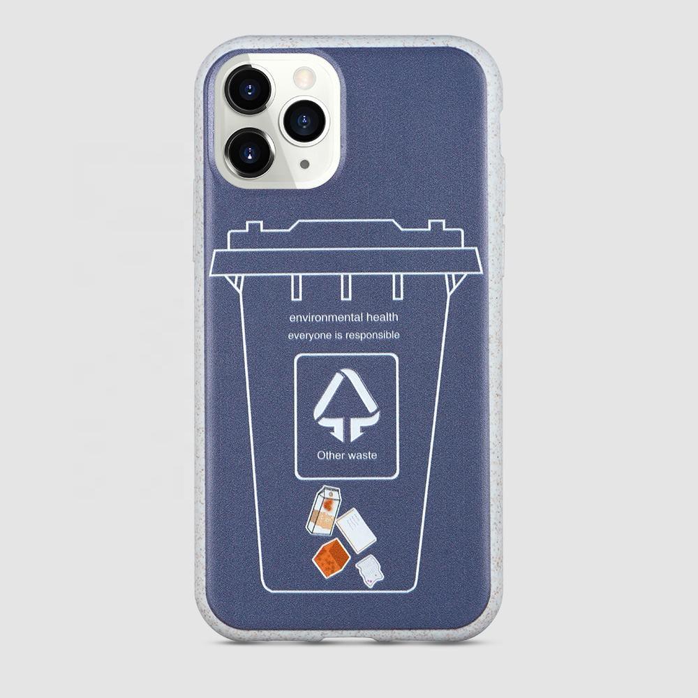100% Biologisch Abbaubar Handy Fall Anpassbare Logo Organic Fall Für iPhone Für Huawei Für Samsung