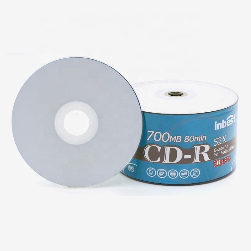 80Min Blank cd-r disc For Save date music High performance Printable CD Easy burn 52x 700mb CD