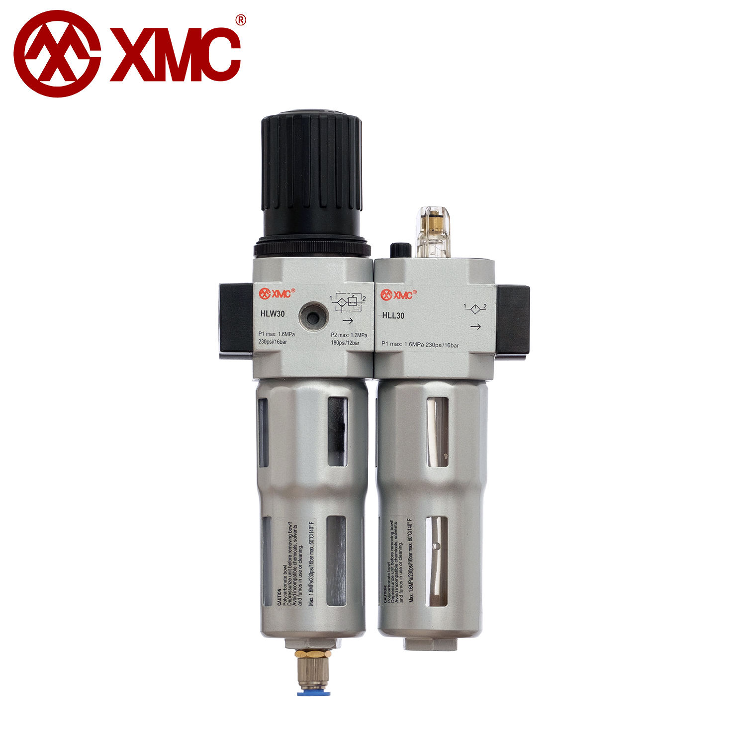 XMC HLC30A-03 G3/8'' Pneumatic Service Units FRC Model Metal Design Compressed Air Filter Regulator Lubricator