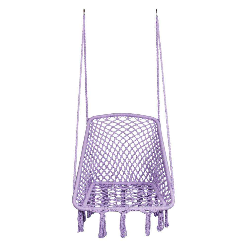 HR Square Swing Hammock Chair indoor outdoor PATIO SWING, rope hanging swing chair