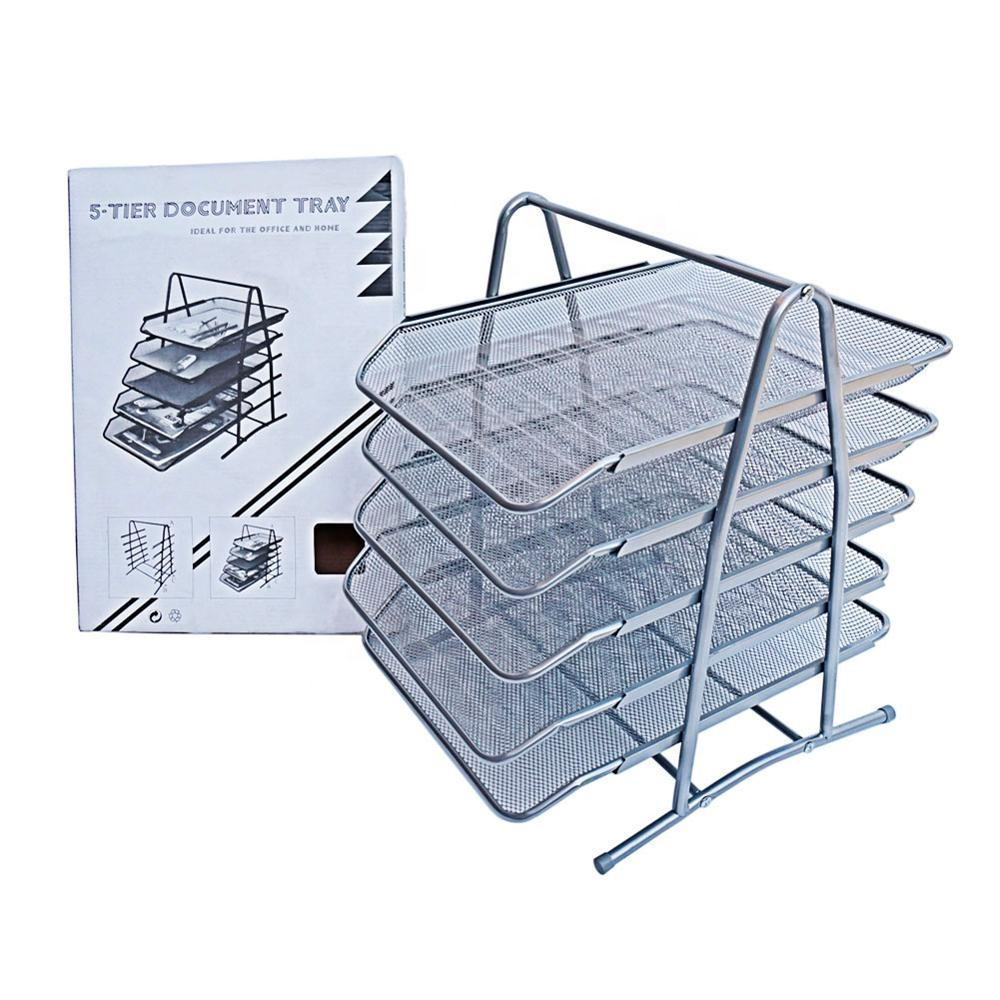 High Quality Office File Trays Holder A4 Document Letter Paper Wire Mesh Storage Organizer Metal File Tray