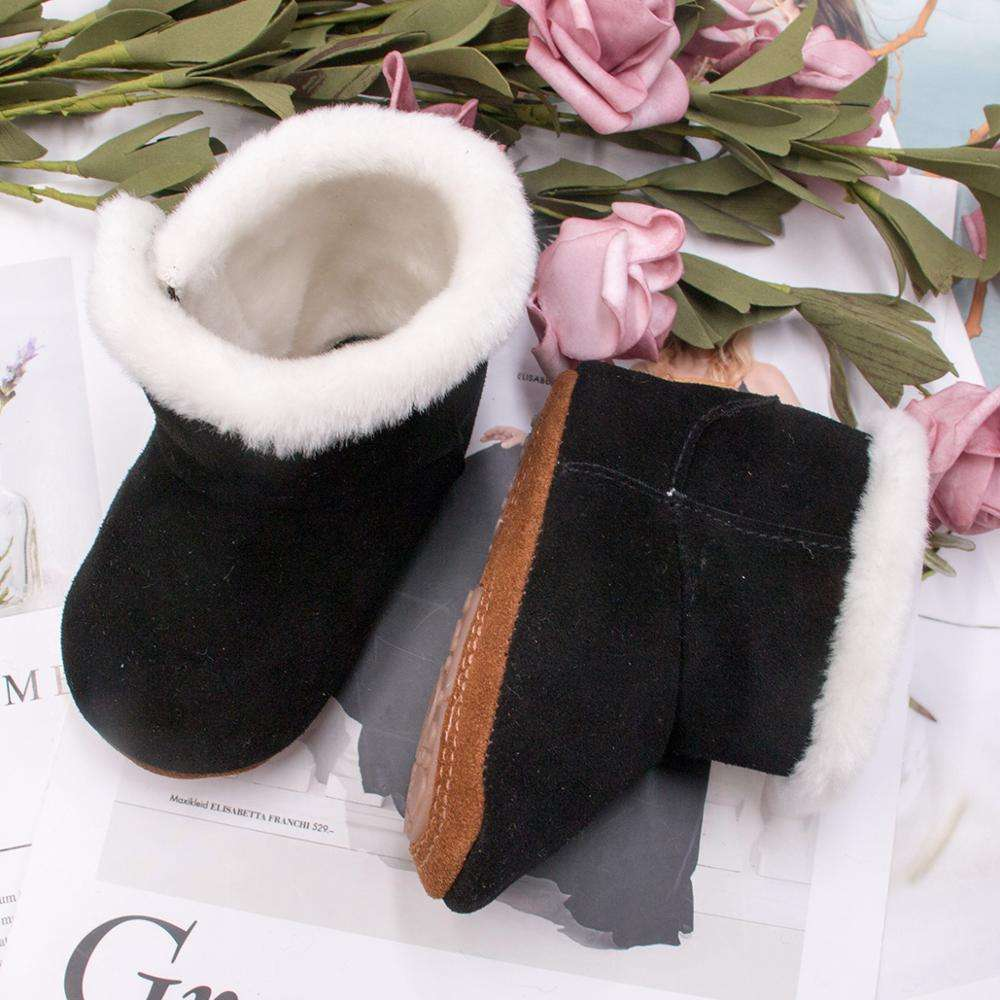 2019 Winter Baby Snow Boots Genuine Leather Warm Fashion Boots Infant Toddler Girls Shoes Drop Shipping Baby Moccasins