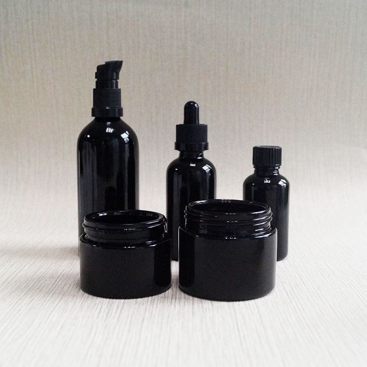 5ml 15ml 30ml 50ml 100ml 150ml 200ml 250ml Dark violet glass essential oil lotion cosmetic bottle and jar