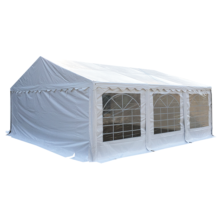 small white outdoor marquee party tent for wedding events