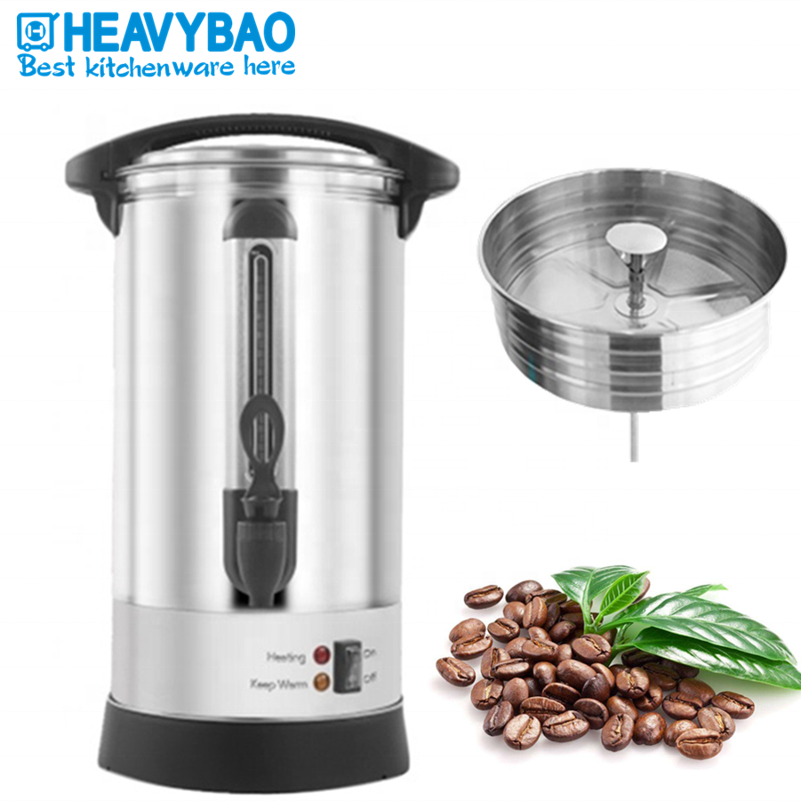 Heavybao Stainless Steel Warmer Heating Element Mulled Wine Water Boiler Electric Coffee Urn