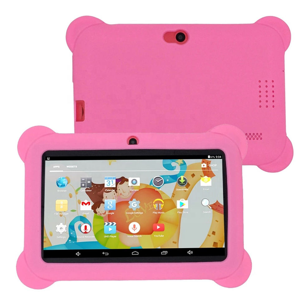 Amazon Hot-selling 7.0 inch Touch Screen Kids Education Tablet PC Android Smart Tablet PC With Silicon Case Stand