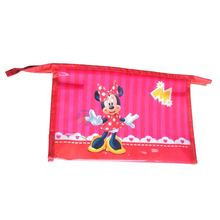 Factory Directly Selling Custom Kids School Stationery Pink Minnie Pencil Case Bag For Children