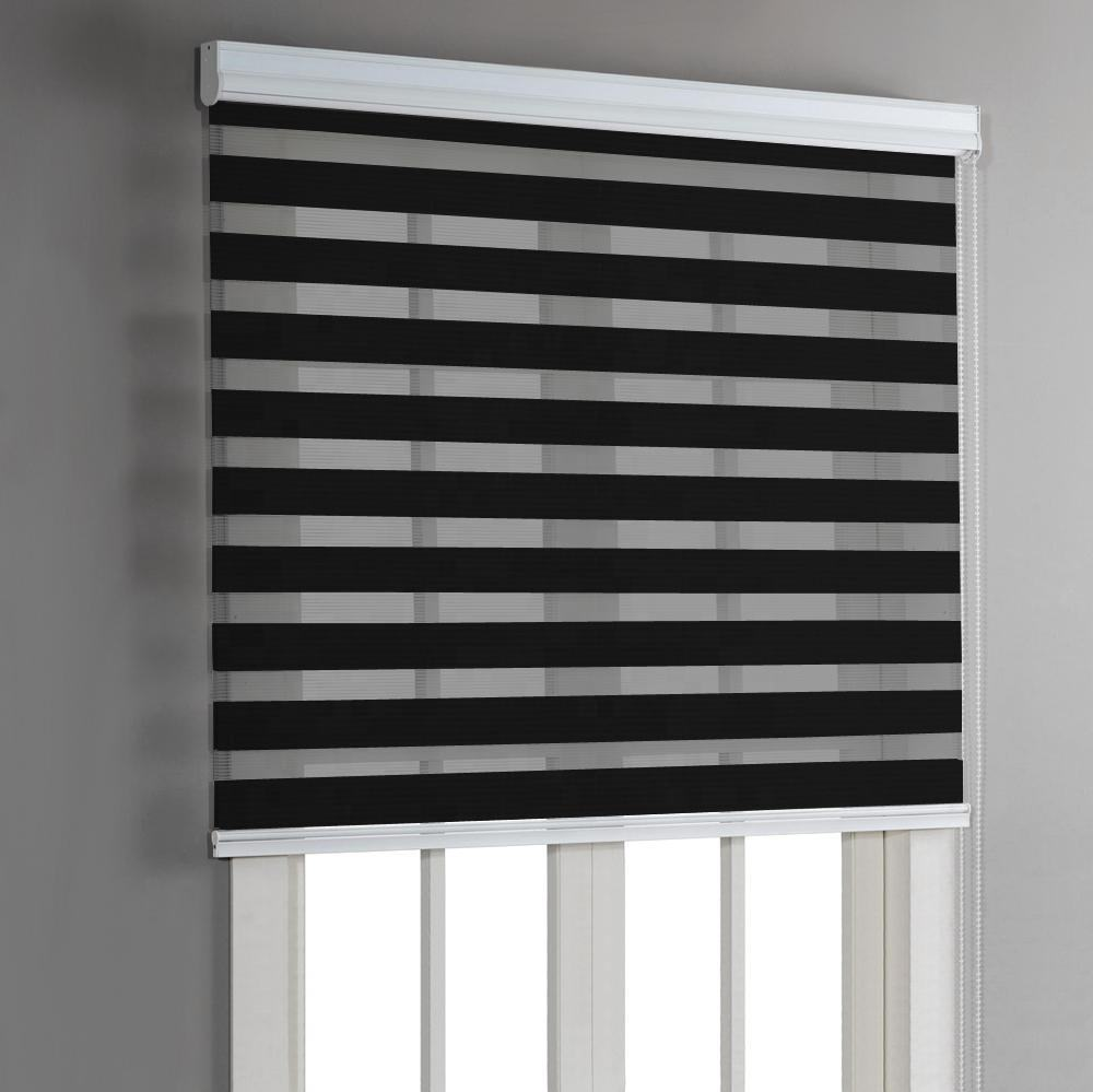 Custom manual roller Blinds Shades Shutters blackout ready made zebra day and night blind