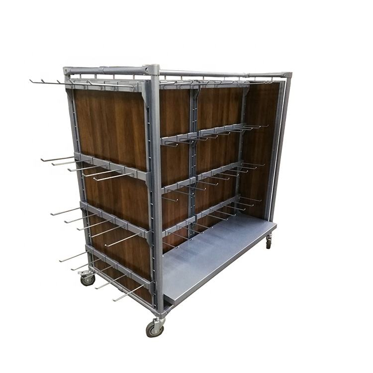 Floor Standing Retail Display Racks Wooden and Metal Display Stand for Shop
