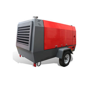 12 Bar 375 Cfm Diesel Portable Screw Air Compressor for Road Construction