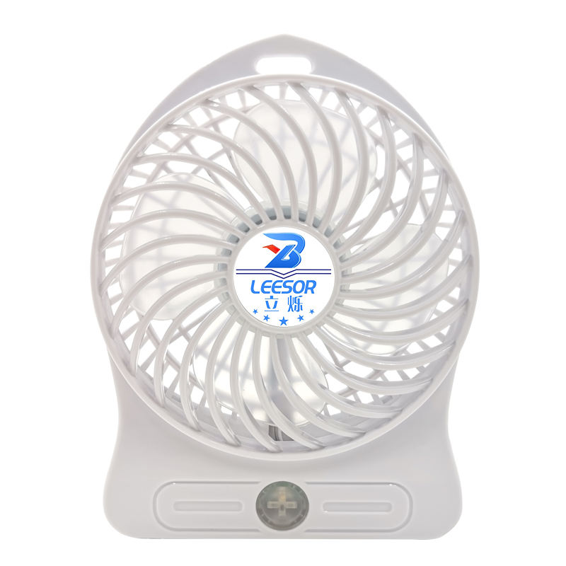 LEESOR Student portable rechargeable large wind hand-held fan USB + battery dual desktop low noise fan