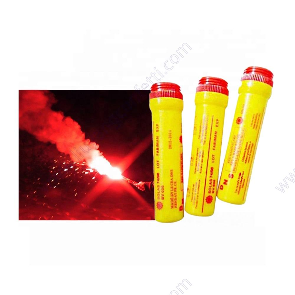 Hot football stadium sale emergency SOS red light flame pyrotechnic 60s torch color smoke fireworks marine red hand signal flare