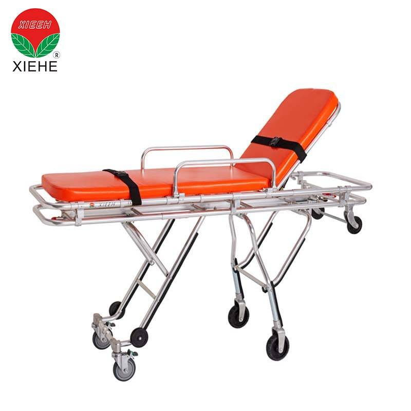 Aluminum loading ambulance stretcher folding medical equipment hospital type equipment