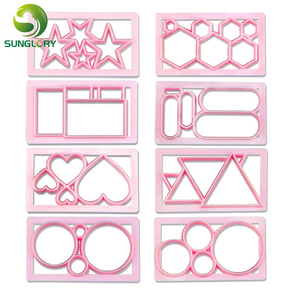 Round Heart Cookie Cutter Plastic Biscuit Mold Fondant Cookie Mold DIY Cake Decorating Tools Baking Cake Decor Cutting Dies Mold