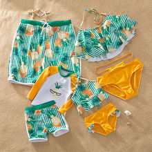 2020 Mother Daughter Dad Son Family Matching Swimwear Mommy And Me Clothes Men Boy Swimsuit Girl Bathing Suit Bikini Swim Trunk