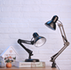 Home Office LED Bulb Metal Long Swing Arm Architect Night Reading Modern Table lamp Study Lamps with Interchange Base