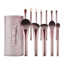 12 pcs Professional Synthetic Hair Foundation Powder Blush Cosmetic Private Label Makeup Brush Sets