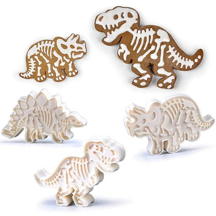 Dinosaur Fossil Cookie Cutters Making Molds Stamps Set 3pcs SW-BA1