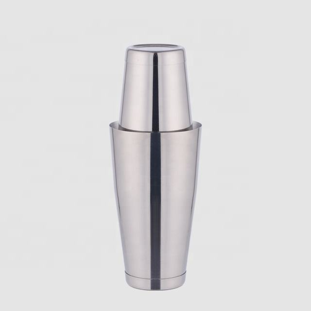 Factory Direct 2 pieces 800ml and 550ML stainless steel weighted boston shaker branded